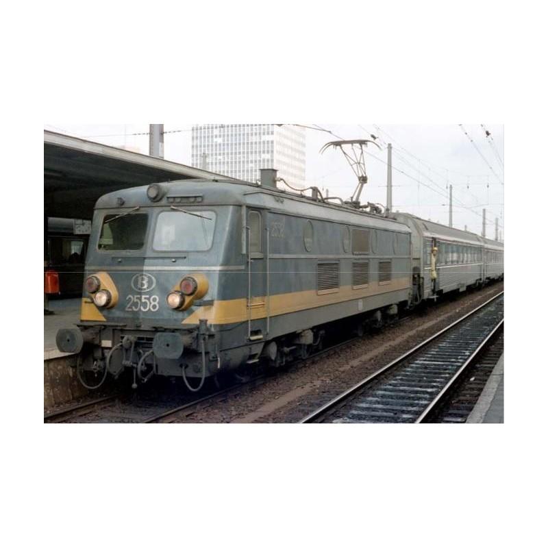 ELECTRIC LOCOMOTIVE SERIE 2558 NETHERLANDS-BELGIUM-FRANCE SNCB, DIGITAL SOUND, BY B MODELS VB3107.07