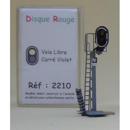 SIGNAL 2 FEUX BLANC VIOLET DE DISQUE ROUGE REF 2210