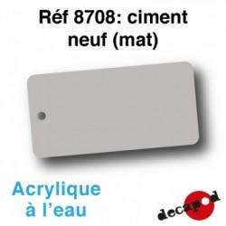 PEINTURE ACRYLIQUE CIMENT NEUF MAT DECAPOD 8708