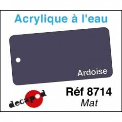 PEINTURE ACRYLIQUE COLORIS ARDOIS MAT DE DECAPOD 8714