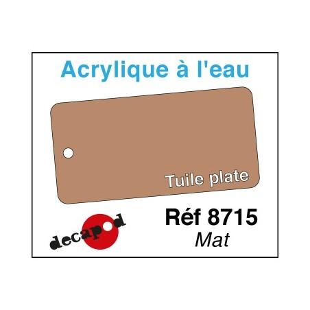 """PEINTURE ACRYLIQUE COLORIS TUILE """"PLATE"""" de DECAPOD 8715"""