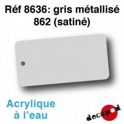 PEINTURE ACRYLIQUE GRIS METALISE SATINE DE DECAPOD 8636