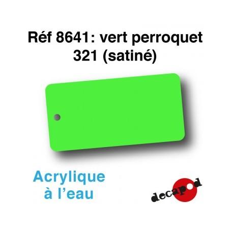 PEINTURE ACRYLIQUE VERT PERROQUET 321 SATINE DE DECAPOD 8641
