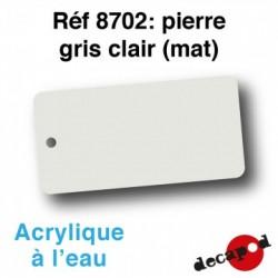 PEINTURE ACRYLIQUE COLORIS PIERRE GRIS CLAIR DE DECAPOD 8702