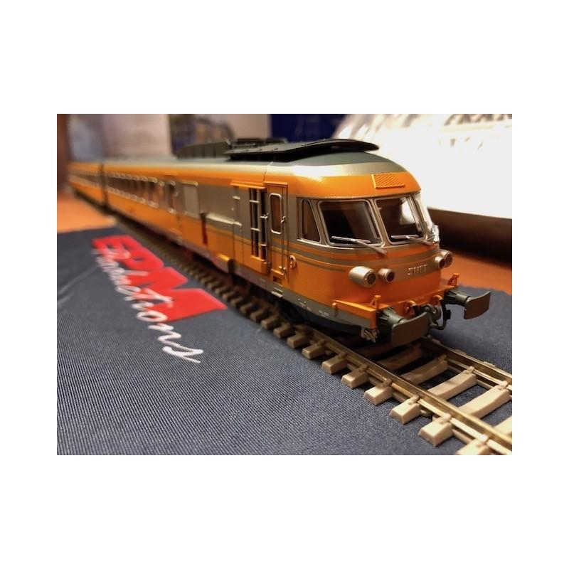 """RAME RTG """"TURBOTRAIN"""" SNCF  5 ELEMENTS D'EPM E 22.15.01"""
