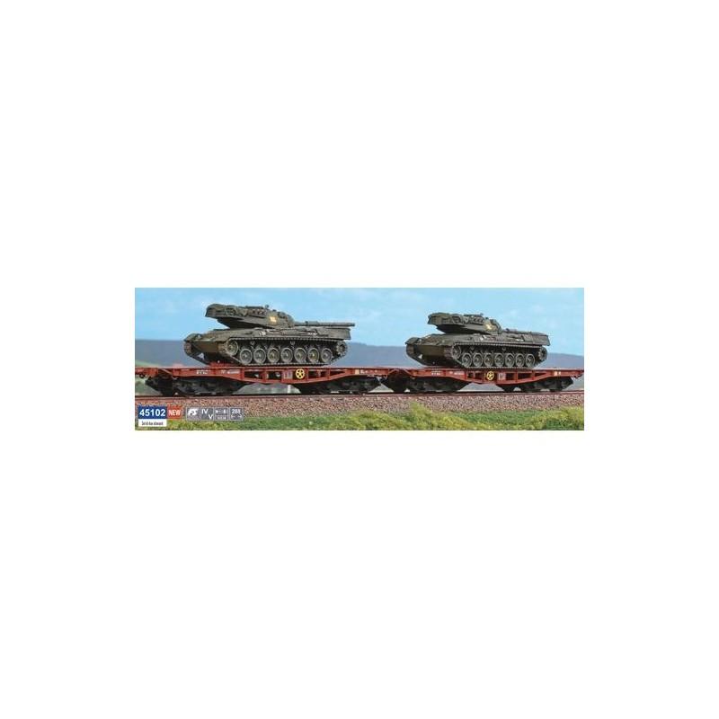 SET 2 WAGONS Rlmmp FS AVEC CHAR  LEOPARD PAR ACME 45102