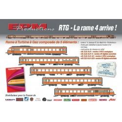 "RAME RTG ""TURBOTRAIN"" SNCF DIGITAL SONORE D'EPM 22.15.01 S"