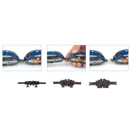 SET DE 4 ATTELAGES SCHARFENBERG POUR X73500 JOUEF HC8040
