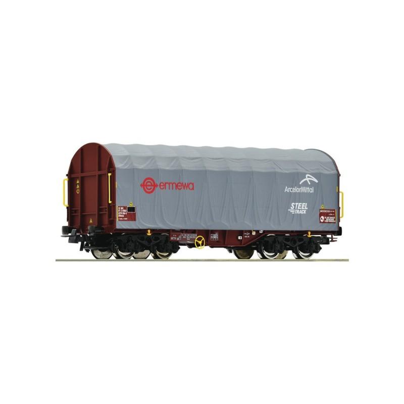 76447 ROCO- Slide tarpaulin wagon, ERMEWA