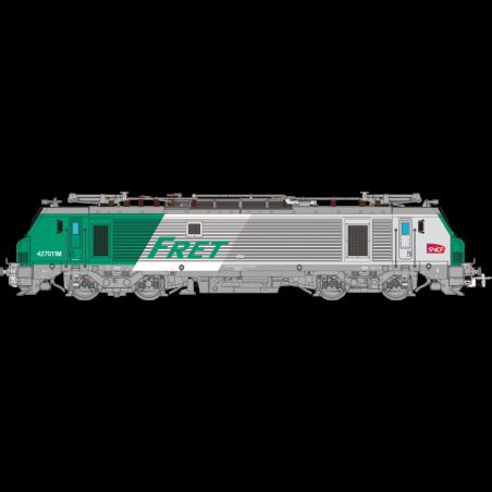 LOCOMOTIVE ELECTRIQUE BB 427011M FRET SNCF, Ep VI, HO, LOGO CARMILLON, ANALOGIQUE, PAR OSKAR OS2704