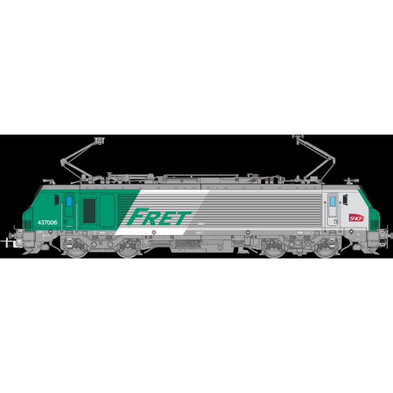 LOCOMOTIVE ELECTRIQUE BB 437006 FRET SNCF , Ep VI, LOGO CARMILLON, DIGITALE SONORE, PAR OSKAR OS3702DCCS