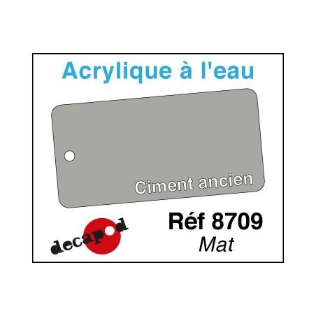 PEINTURE ACRYLIQUE COLORIS CIMENT ANCIEN MAT 125ML PAR DECAPOD 8709XL