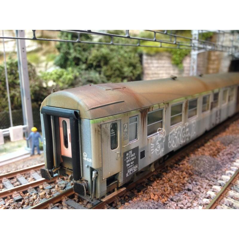 VOITURE UIC B5D FOURGON SNCF DE REE VB158 PATINE PAR NOTRE ARTISAN MODELE 3