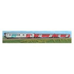 """SET 3 VOITURES TRAIN DE NUIT """"THELLO"""" FS PAR ACME 55223"""