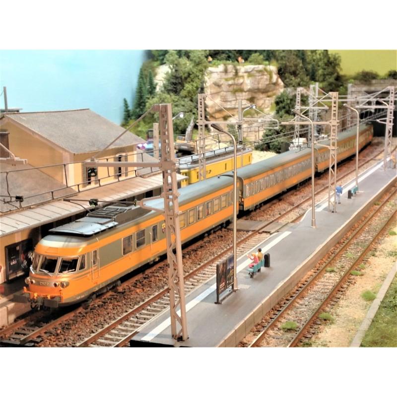 """RAME RTG """"TURBOTRAIN"""" SNCF DEPOT VENISSIEUX D'EPM 22.15.01"""