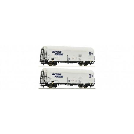 SET DE 2 WAGONS REFRIGERANTS INTER FRIGO SNCF PAR ROCO 76040