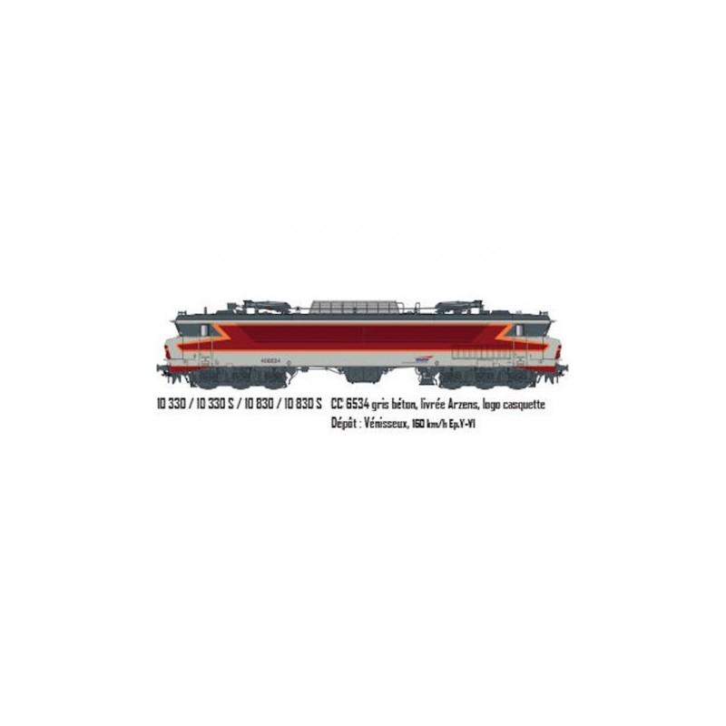 LOCOMOTIVE CC 6534 SNCF LOGO CASQUETTE  DE LS MODELS 10330