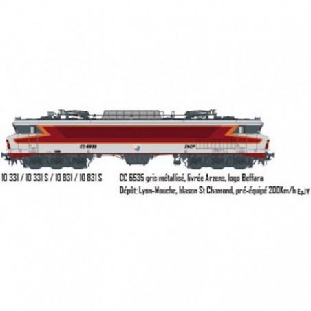 LOCOMOTIVE CC 6535 SNCF LOGO CASQUETTE DC SONORE DE LS MODELS 10331S