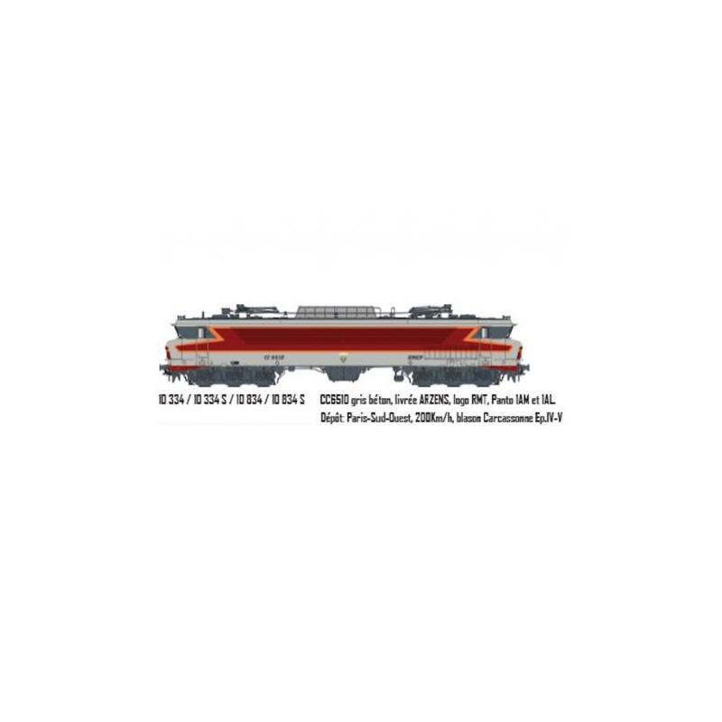 LOCOMOTIVE CC 6510 SNCF DEPOT PARIS SO  DE LS MODELS 10334